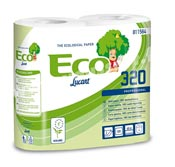 Toilet paper rolls 320 fts Ecolabel biodegradable packages 36