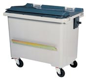 Waste container 770 Liters 4 wheels CV gray ventral bar