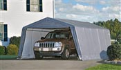 Garage demontable car steel frame and polyethylene 3,6 x 6,1 m