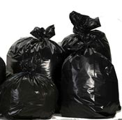 Black trash bag 50 liters enhanced package 200
