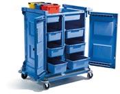 NC4000 carnelied Numatic housekeeping trolley