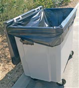 Garbage bag bag container 750 liters reinforced packages 50