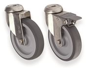 Set of 4 wheels for isothermal container