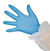 Non-powder blue nitrile glove per 100
