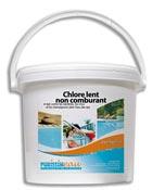 Slow roller 200 grams chlorine pool product bucket 10 kg
