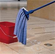 Spontex fringe mop nonwoven blue