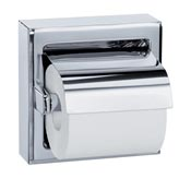 Toilet paper dispenser polished stainless steel