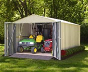 Metal garden shed Arrow CHD1015 galvanized steel 13.8 m2