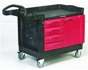 Truck Rubbermaid TradeMasters 4 drawers 1 door