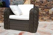 Resin chair round wire braided Mikonos prestige