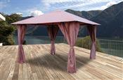 Garden arbor with 3x3 m color curtains Atlas Wine lees