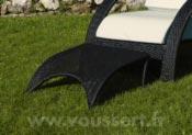 Footrest black wicker Mumbai