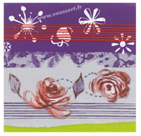 Acheter Paper napkins 40x40cm Christmas Prelude package 250