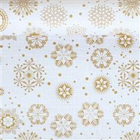 Acheter Christmas tablecloth roll crystals gold 1,20x25m