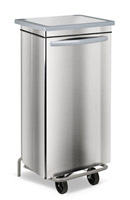 Acheter Stainless kitchen trash HACCP faired 100 liters