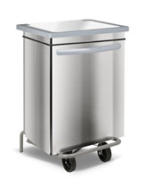 Acheter Stainless kitchen trash HACCP faired 70 liters