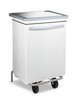 Acheter White kitchen trash HACCP streamlined steel 70 liters