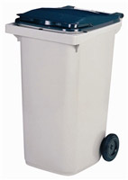 Acheter 2 wheel waste container 240 liters gray front socket