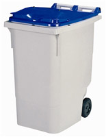 Acheter 2 wheel waste container 340 liters blue lid front socket