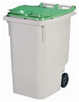 Acheter 2 wheel waste container 340 liters green lid front stacker