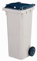 Acheter 2 wheel waste container 120 liters gray front socket