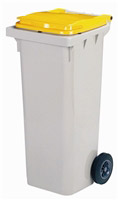 Acheter 2 wheel waste container 120 Litres yellow front socket