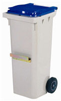 Acheter 2 wheel waste container lid 120 liter blue bar ventral
