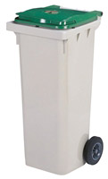 Acheter 2 wheel waste container 240L green front socket