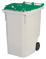 Acheter 2 wheel waste container lid 340 L front green jack