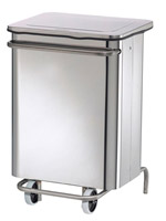 Acheter Stainless steel kitchen trash HACCP collecroule 70 L