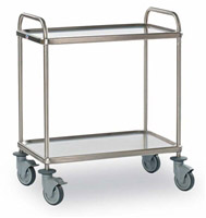 Acheter 2 stainless steel trolley service restoration trays
