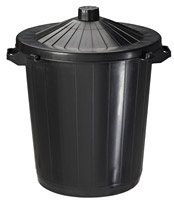 Acheter Building 80 black bin with lid ITRES