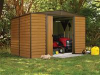 Acheter Garden shed Arrow ED1012 galvanized steel 10.7m2 imitation wood
