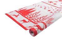 Acheter Christmas tablecloth red decor 1,18x25m