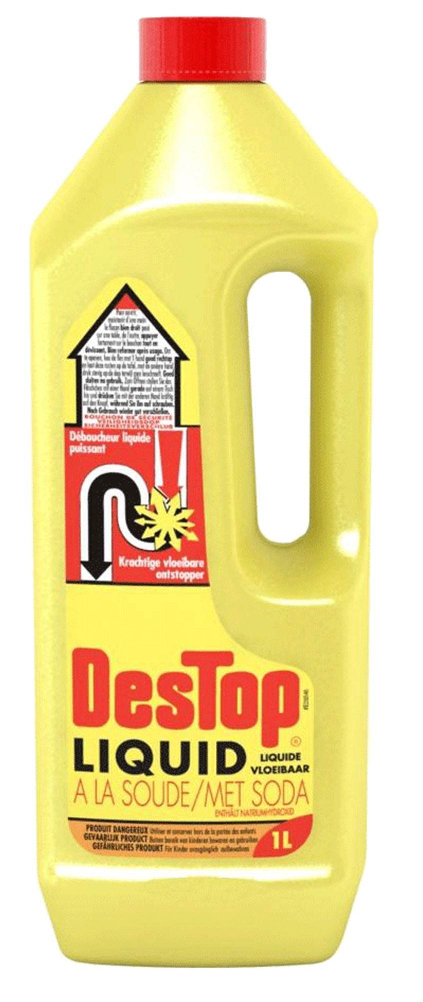 Destop Liquid Drain Cleaner Pipe 1 Liter Bottle