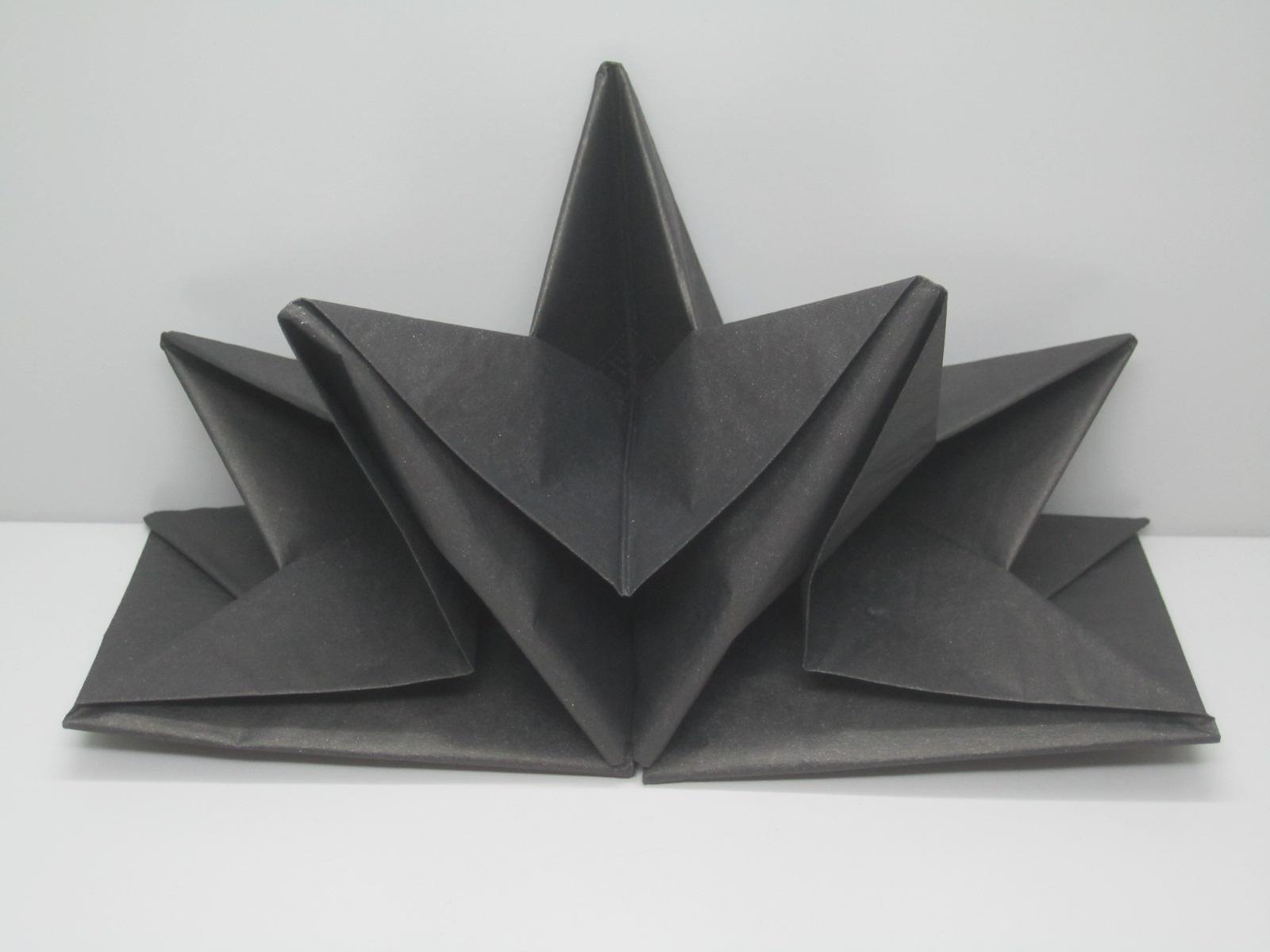 Pliage De Serviette Original serviette papier prepliee pliage etoile noire etui de 12