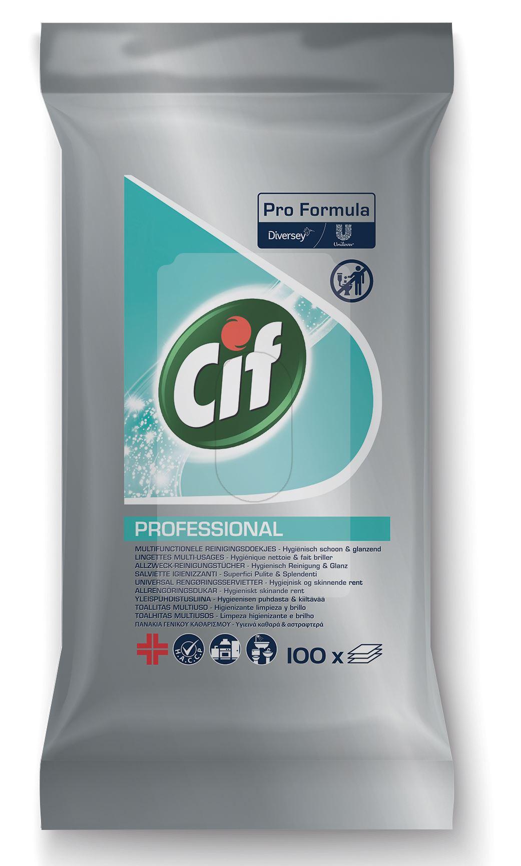 Cif professional lingette multi usages