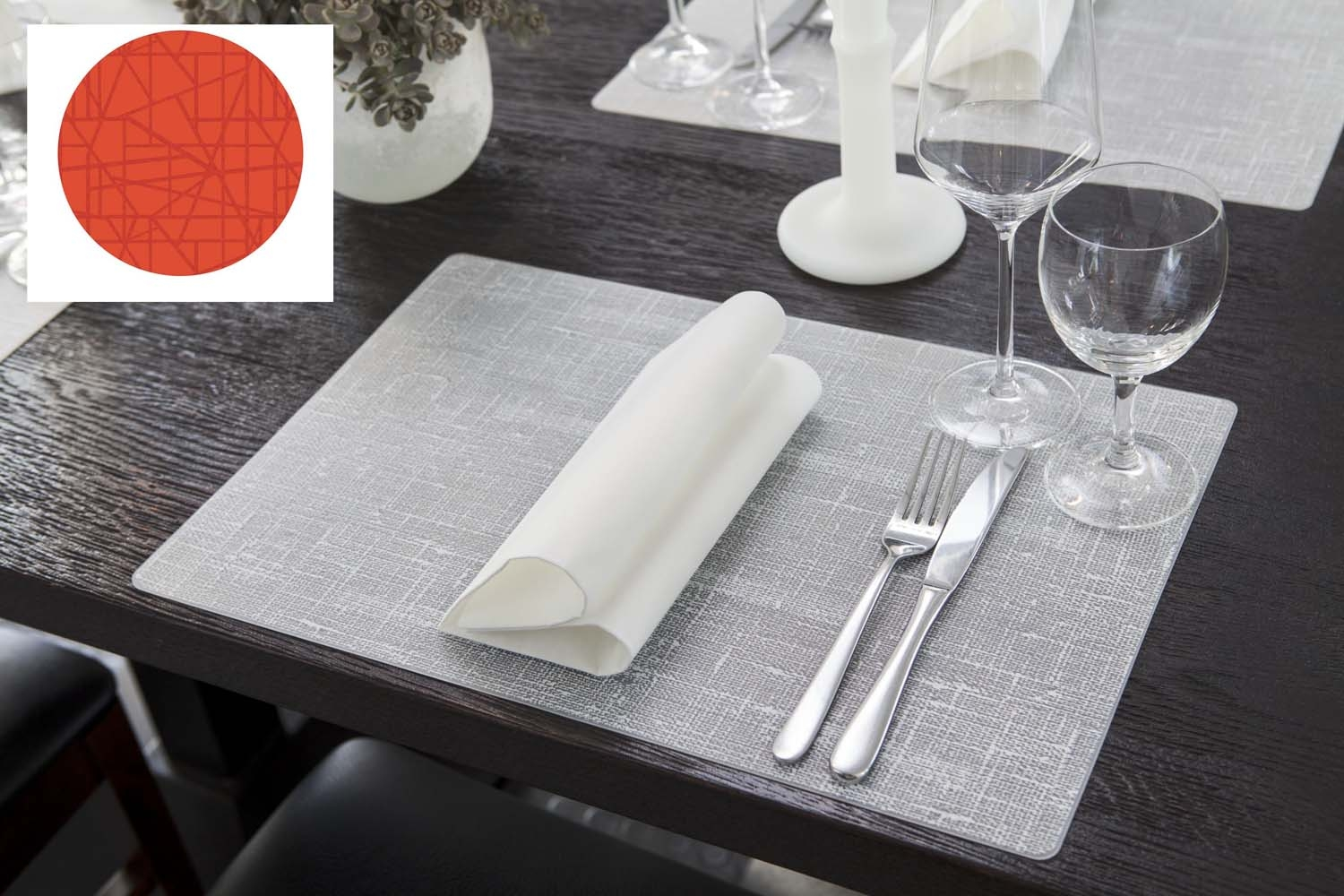 Placemat machine washable silicone tangerine 30 x 45 cm Duni
