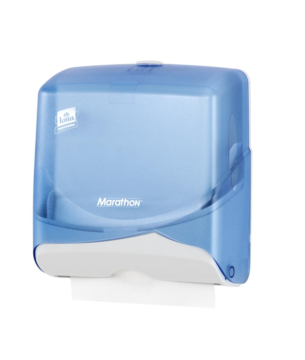 Paper Hand Towel Dispenser Lotus Marathon Blue Mini