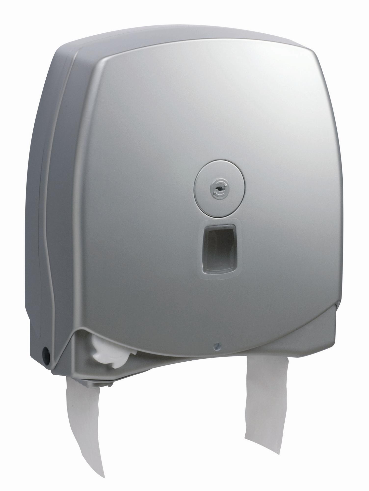 Dérouleur Papier Wc Metal distributeur papier toilette automatique jumbo gris