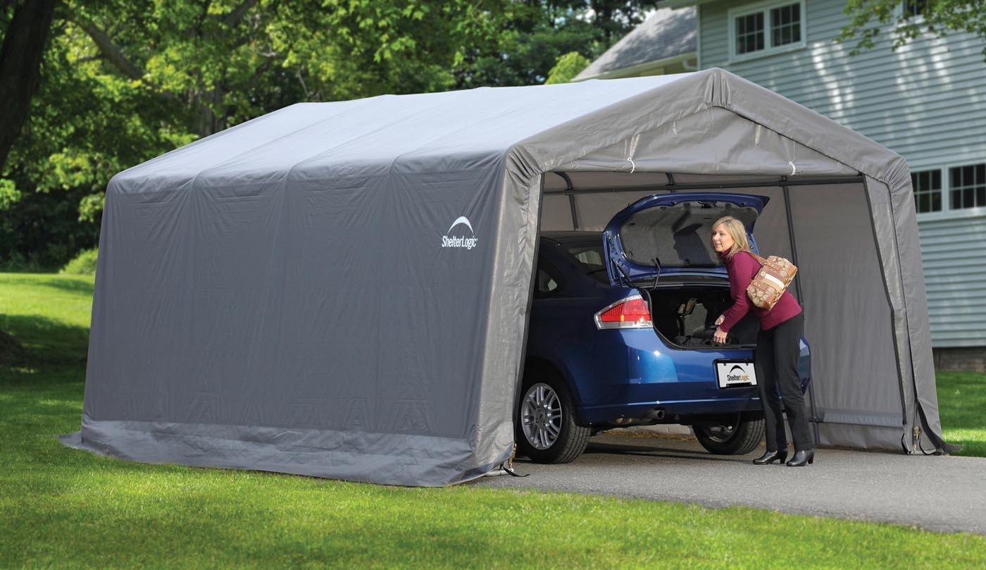 Garage removable car promo shelterlogic for Garage auto 2000 wimille