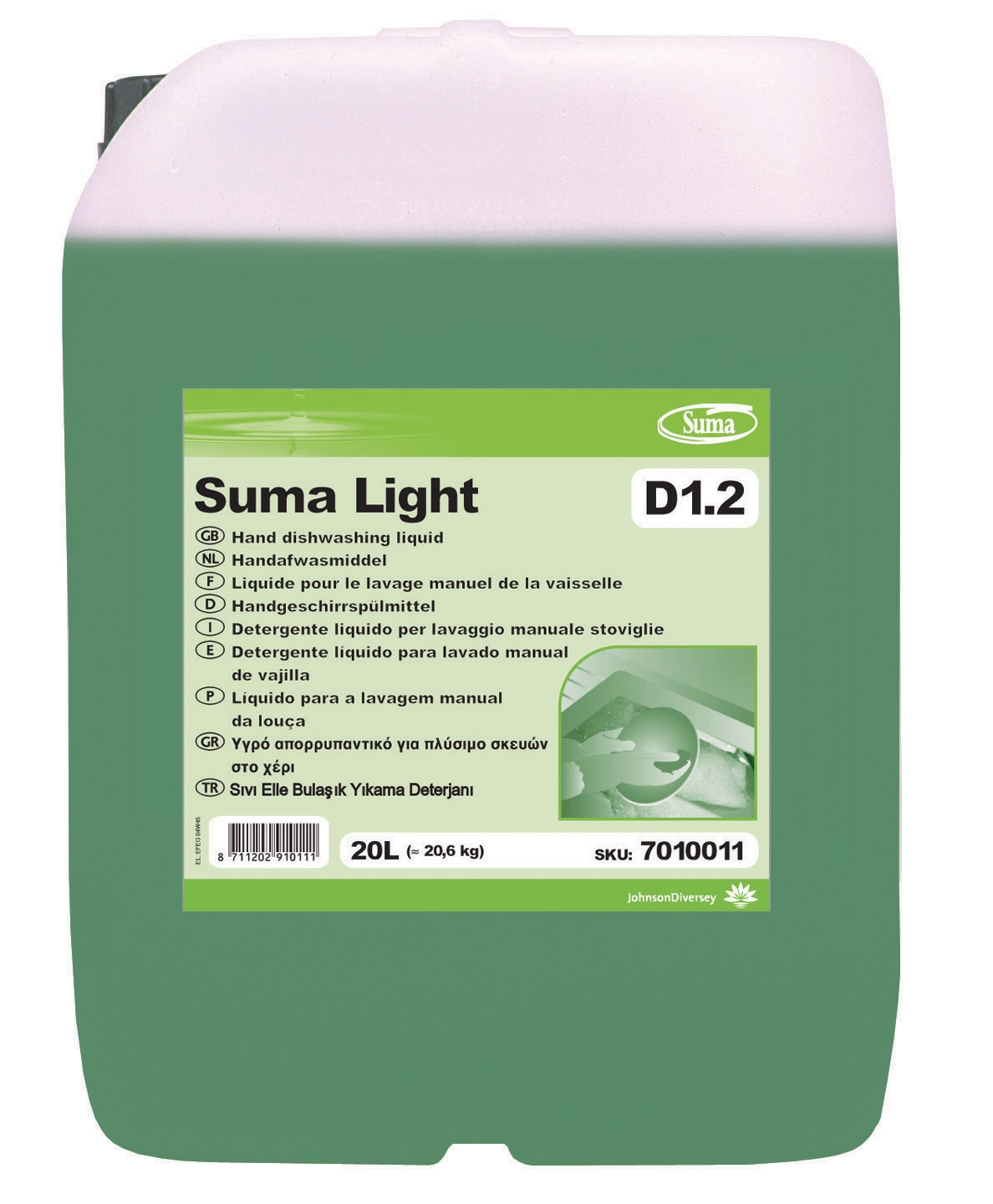 Suma Light D1 2 Diversey Johnson Manual Dishwasher 20 L