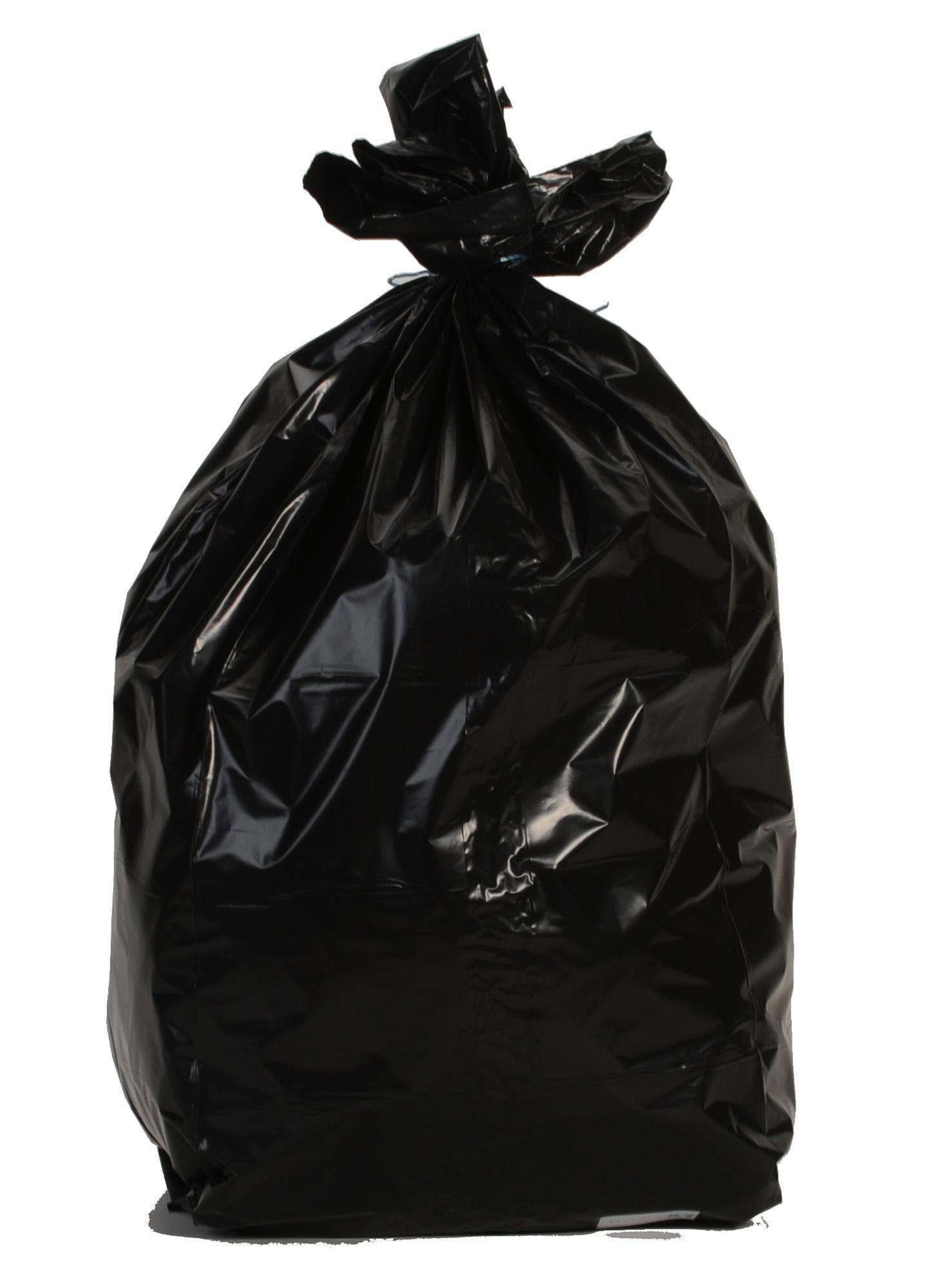 Sac poubelle 110 litres noir renforce colis 200