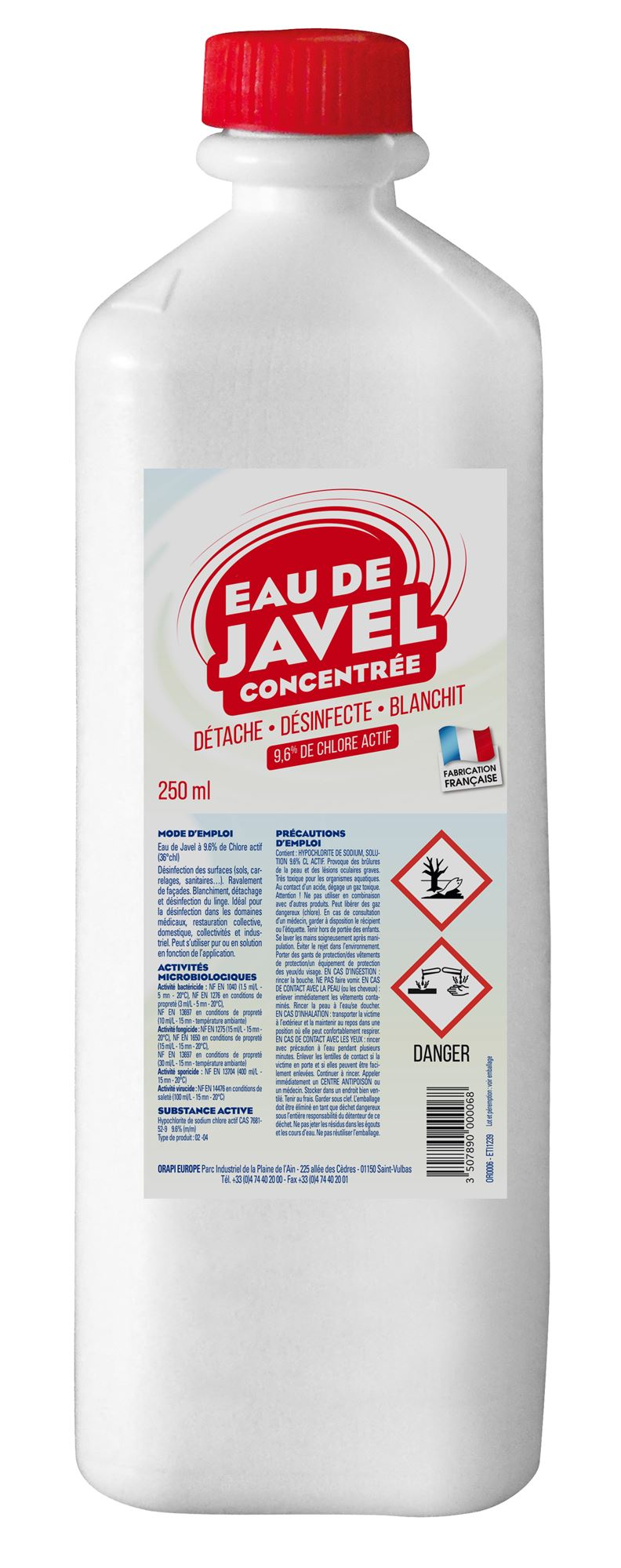 Blanchir Un Parquet À L Eau De Javel concentrated bleach 36 ° chl 250ml