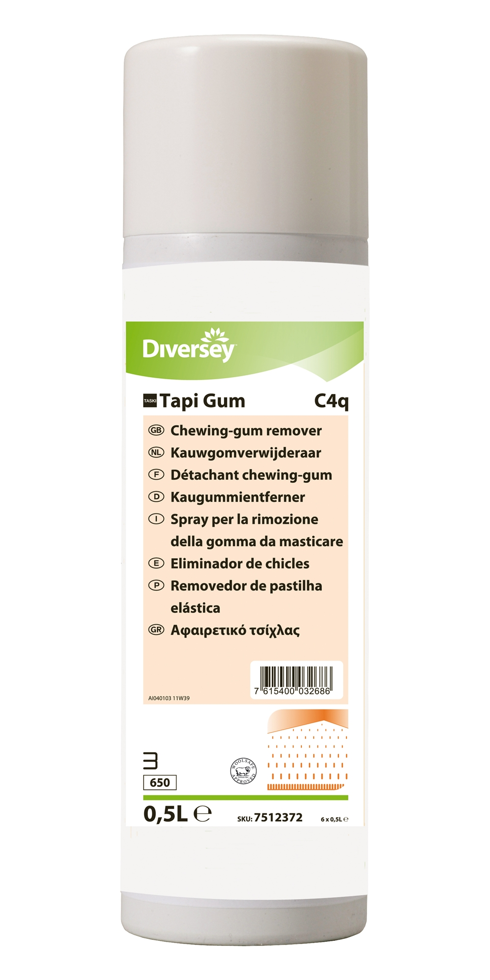 Taski Tapi Gum Cleanser Removes Chewing Gum 500 Ml