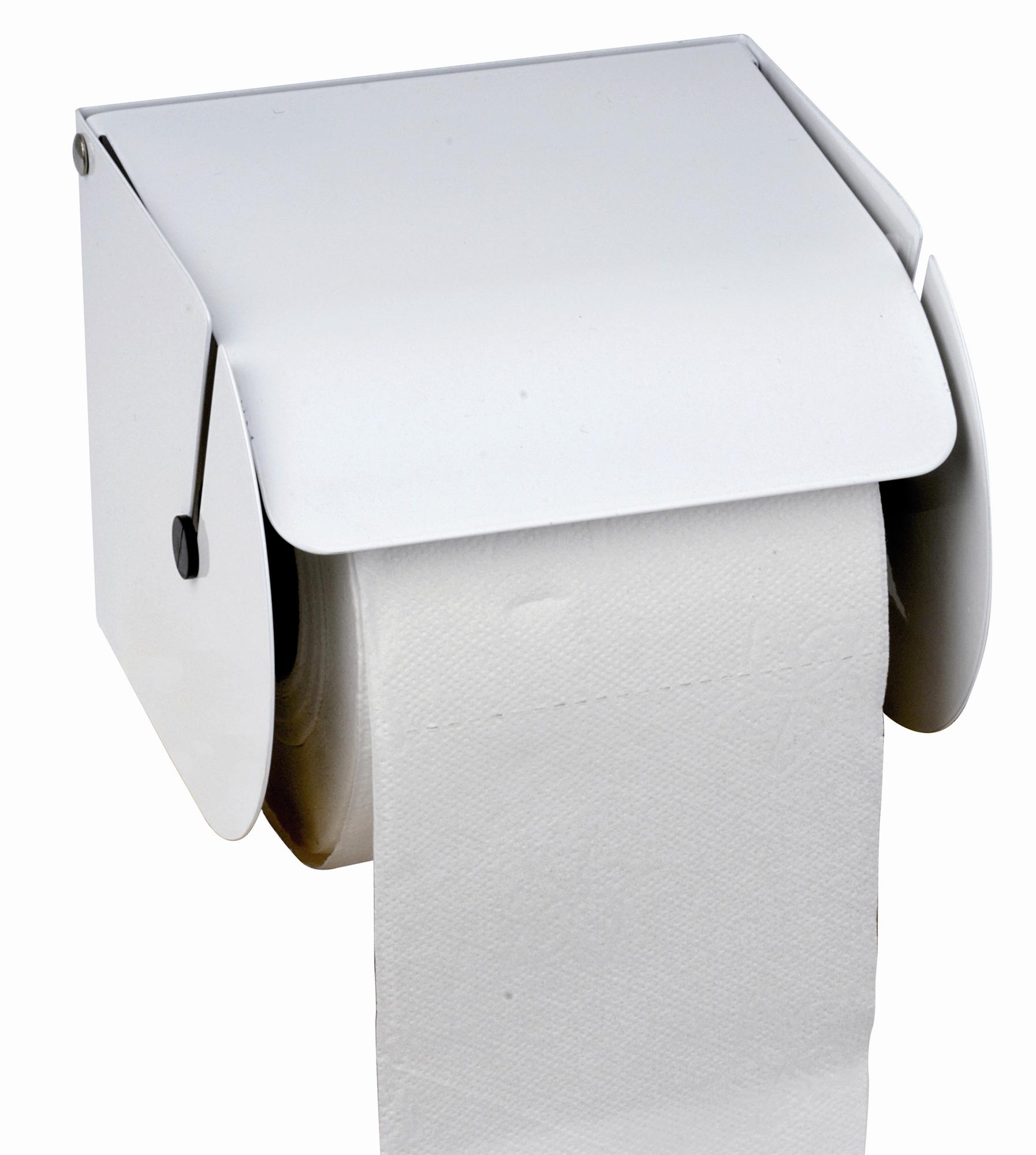 Dérouleur Papier Wc Metal distributeur papier toilette rouleaux métal blanc
