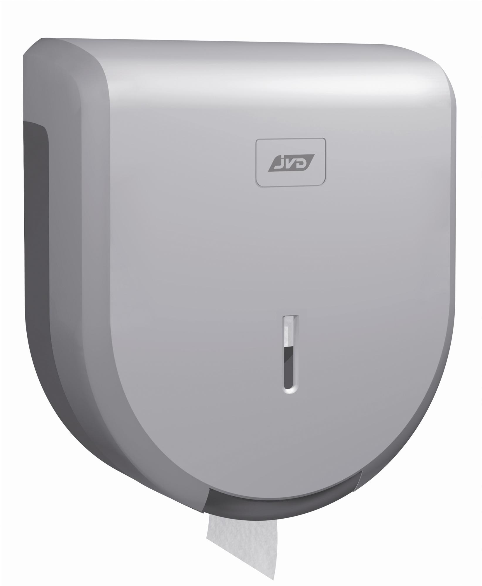 Toilet Paper Dispenser Jumbo Metal Gray Abs Jvd