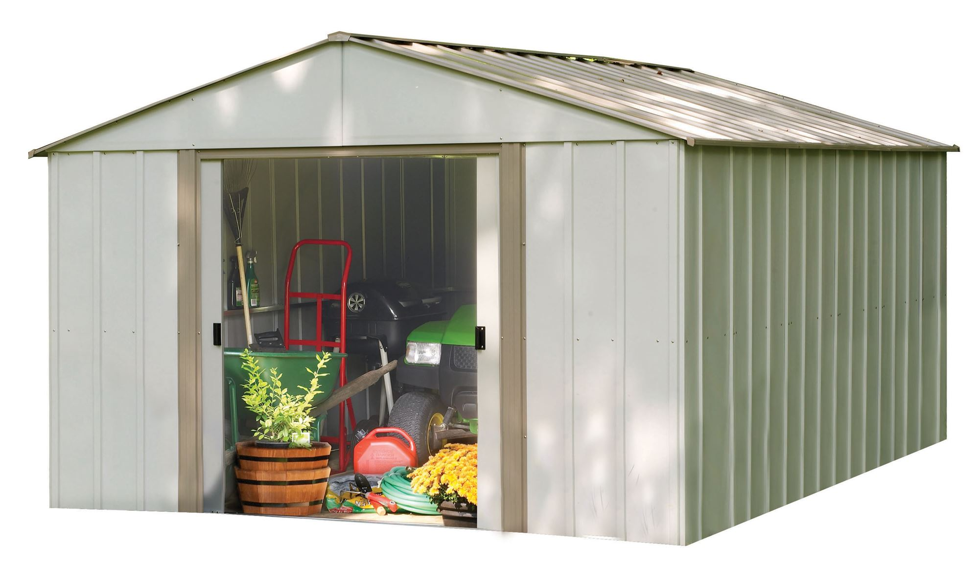 Metal garden shed arrow ob1014 12 m2 for Abri jardin 12m2