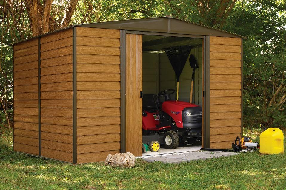 Garden Shed Arrow WR108 Galvanized Steel 7m2 Imitation Wood. Arrow. Garden  Shed Arrow ...