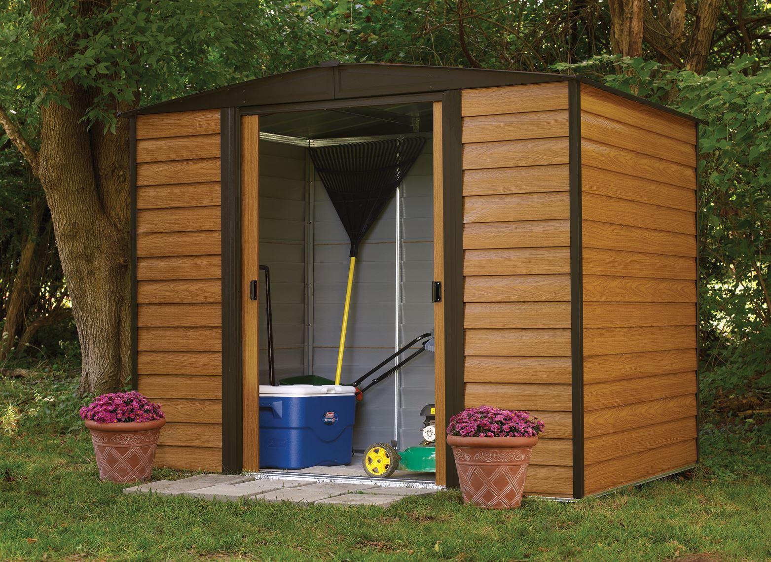 Arrow Galvanized Steel Garden Shed Wr86 4m2